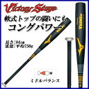 運動用品, 戶外用品 - MIZUNO ミズノ 野球 バット 2TR43340 軟式用 ビクトリーステージ Vコング02 金属製 84cm 平均750g ミドルバランス