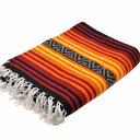 エルパソサドルブランケット (El Paso SADDLEBLANKET) Peyote Blanket/ペヨーテブランケット 約188×142cm BURGUNDY/ORANGE