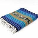 エルパソサドルブランケット (El Paso SADDLEBLANKET) Peyote Blanket/ペヨーテブランケット 約188×142cm BLUE/ORANGE