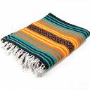 エルパソサドルブランケット (El Paso SADDLEBLANKET) Peyote Blanket/ペヨーテブランケット 約188×142cm ORANGE/TEAL