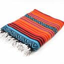エルパソサドルブランケット (El Paso SADDLEBLANKET) Peyote Blanket/ペヨーテブランケット 約188×142cm ORANGE/TURQUOISE