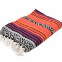 エルパソサドルブランケット (El Paso SADDLEBLANKET) Peyote Blanket/ペヨーテブランケット 約188×142cm ORANGE/DK.CHERRY