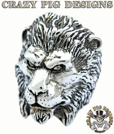 クレイジーピッグ 「正規販売認定店」 リング 指輪 / CRAZY PIG ライオンリング 【 正規品 指輪 メンズリング レディースリング おしゃれ かっこいい 人気 ブランド JAS刻印 】