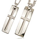 With me with me / slit cross necklace (platinum coating) [to a pendant jewelry mail order men gap Dis man woman TIFFANY Tiffany /THE KISS  /4  / star jewelry enthusiast] [smtb-m] [easy  _ packing]