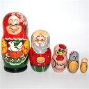 ロシアの人形 マトリョーシカ 「金のタマゴを産むニワトリ」5個組17cm【マトリョーシカ】