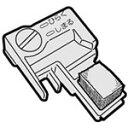シャープ 掃除機サイクロンクリーナー用のブラシカバー左用 2171102218