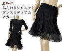 社交ダンス/社交ダンス衣装/衣装/スカート/ウェア/ダンスウェア/Fサイズ(ややゆったり)/黒