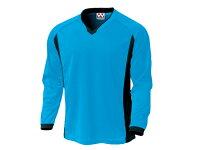 WUNDOU (ウンドウ) ベーシックロングスリーブサッカーシャツ ターコイズ P-1930 1710 メンズ 紳士 男性 サッカー ウェアの画像