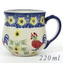 【ポーランド陶器・食器】マニュファクトゥラ社マグカップS 0.22L K52-ALC59 にわとり ポーリッシュポタリー ポーランド食器