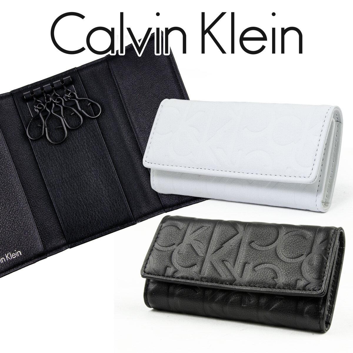 カルバンクライン キーケース Calvin Klein 小銭入れあり 4連キーケース ラッシュ 牛革 メンズ 正規品 新品 ブランド 2016年 ギフト プレゼント 804622 父の日