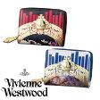 ヴィヴィアンウエストウッド ヴィヴィアン 財布 ヴィヴィアン・ウエストウッド ケラブ&フローラルフレーム ラウンドファスナー 二つ折り財布 Vivienne Westwood メンズ レディース オーブ 牛革 ブランド 正規品 新品 2016年 ギフト プレゼント