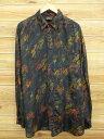 古着 長袖 シャツ シルク 黒他 ブラック 【spe】 XLサイズ 中古 メンズ トップス