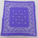 ショッピングバンダナ 中古 バンダナ 90年代 90s 花 コットン USA製 アメリカ製 紫 パープル 中古メンズレディースビンテージ
