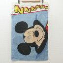 ショッピングディズニー 中古 ピローケース 90年代 90s ディズニー DISNEY ミッキー MICKEY MOUSE 薄紺 ネイビー 中古アンティークビンテージ
