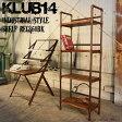 【KLUB14】インダストリアル 4段 オープンラック REG860BK