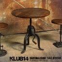 【KLUB14】 インダストリアルスタイル家具 アイアン 木製 カフェテーブル RET200BK