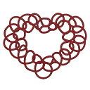 ミニフィーネハート #7 バーガンディ デコレーション オーナメント 置物 バレンタイン ハート [T-ZE008101-007] 代引決済不可