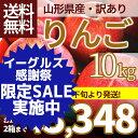 りんご 訳あり 10kg 送料無料 サンふじ 山形県産 産地...