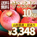 りんご 訳あり 10kg 送料無料 サンふじ 山形県産 産地