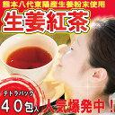 国産生姜紅茶1.5g×20包×2個セット!熊本八代東陽産生姜使用ティーパック!紅茶ゴールデンリング使用のしょうが紅茶!【メール便可】02P3Aug12
