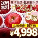 りんご 山形県産 サンふじりんご 5kgフルーツ 特秀 名水...