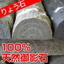 車止め 10周年企画 訳あり アウトレット 高級みかげ石 薪デザイン(幅45cmタイプ)カーストッパー りょう石