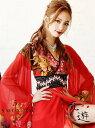 たけだしずか なっつ シフォン 着物ドレス 花魁 振袖ドレス ロングドレス 和柄 正月 キャバクラドレス