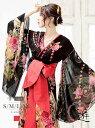 キャバクラ ドレス 花柄 和柄 花魁ドレス 振袖ドレス シフォン 前ミニ イベント おいらん