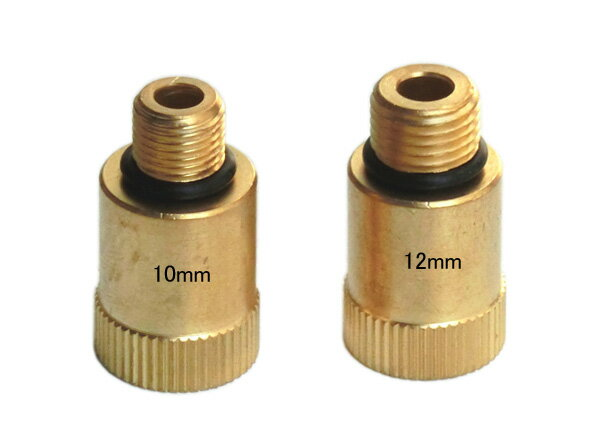 【ネコポス限定】エンジンコンプレッションゲージ(テスター)用アダプター10mm12mm B004