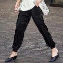 カーゴパンツ M L LL 3L サテンカーゴパンツ(M〜3L) ryuryu リュリュ 20代 30代 40代 レディース ファッション ラナン Ranan 春 春服 大人 パンツ ボトムス