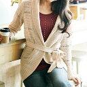 ●SALE!!セール●ラメ入り透かし編ニットガウン ryuryu/リュリュ 30代 ファッション レディース アウトレット