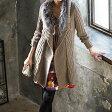 裏ボア付ファー使いニットコート ryuryu/リュリュ ラナン Ranan 【30代 40代 レディース ファッション】【アウトレット】