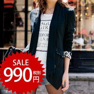 ジャケット サイズポンチデザインジャケット リュリュ ファッション レディース アウトレット アウター