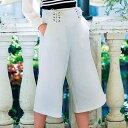 ●SALE!!セール●美ラインレースアップガウチョパンツ ryuryu/リュリュ 30代 ファッション レディース アウトレット