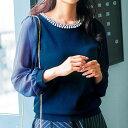 異素材使いミラノリブビジュー付ニット ryuryu/リュリュ 30代 ファッション レディース アウトレット【SALE_170106】