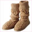 ショッピングニットブーツ つま先までふわふわニットブーツ ryuryu/リュリュ 30代 ファッション レディース