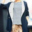 ●SALE!!セール●裏カットソー使いビッグフードコート ryuryu/リュリュ 30代 ファッション レディース アウトレット【再販売】