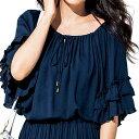 ●SALE!!セール●楊柳素材チュニックブラウス ryuryu/リュリュ 30代 40代 ファッション レディース 夏 在庫処分 アウトレット