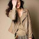 トレンドに左右されない定番のライダースジャケットをレディ仕様に。フェイクレザーブルゾン ryuryu/リュリュ ラナン Ranan 30代 40代 ファッション レディース