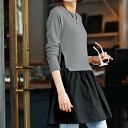 ロングシャツにセーターを合わせたようなレイヤード風デザイン。生地部分のボリューム感が可愛いアクセント。異素材切替チュニック(M〜LL) ryuryu/リュリュ ...