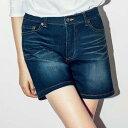 <裏起毛>美ラインデニムショートパンツ(58〜70) ryuryu/リュリュ 30代 ファッション レディース アウトレット【24時間限定セール】