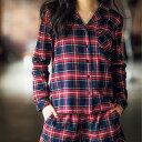ふわっと起毛で肌当たり◎チェック柄パジャマセット。オシャレで可愛い大人のシャツパジャマ☆シャツパジャマセット ryuryu/リュリュ30代 ファッション レディ...