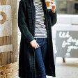 この冬必須のロングニットコートは裏ボアであったかさも賢くキープ!裏ボアロングニットコート(LL〜3L) ryuryu/リュリュ 30代 ファッション レディース アウトレット【SALE_160930】