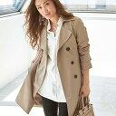【スーパーDEAL】ロングコート /M/LL/Lトラディショナルなコートに袖を通した瞬間、グッと春気分へシフトエレガントベーシックトレンチコート ryuryu/リュリュ ラナン Ranan 30代 40代 ファッション レディース スプリングコート【dl】ベルーナ
