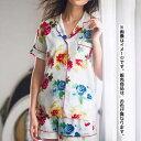 とろみ素材のシャツパジャマ ryuryu/リュリュ レディース 30代 40代 ファッション