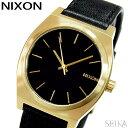NIXON ニクソン タイムテラー A045-2639時計 腕時計 メンズ レディース ユニセックスゴールド ブラック レザー A0452639-00