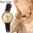 【レビューを書いて5年保証】ポールスミス PAUL SMITH BT2-629-10(1) The City Mini 時計 腕時計 レディース ゴールド ブラウン レザー..