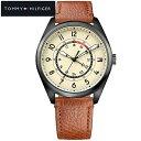 トミーヒルフィガー TOMMY HILFIGER 1791372(171)時計 腕時計 メンズ ブラウン レザー