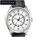 トミーヒルフィガー TOMMY HILFIGER 1791373 (160)時計 腕時計 メンズ ホワイト ブラック レザー 白い腕時計