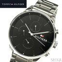 トミーヒルフィガー TOMMY HILFIGER1791485(181) メンズ 時計 腕時計 ブラック シルバー